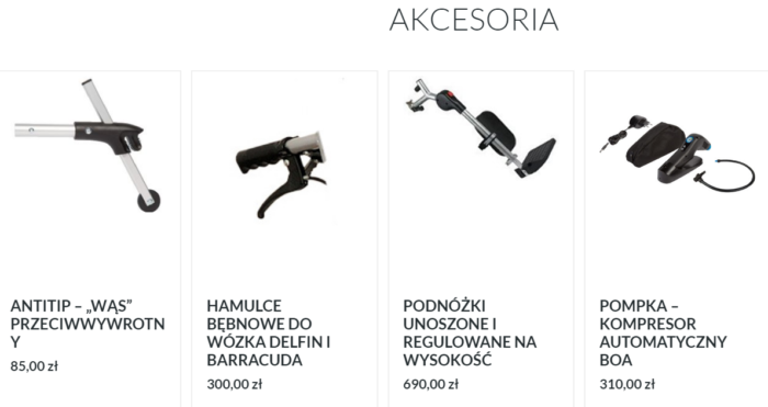 Wózek Barracuda akcesoria